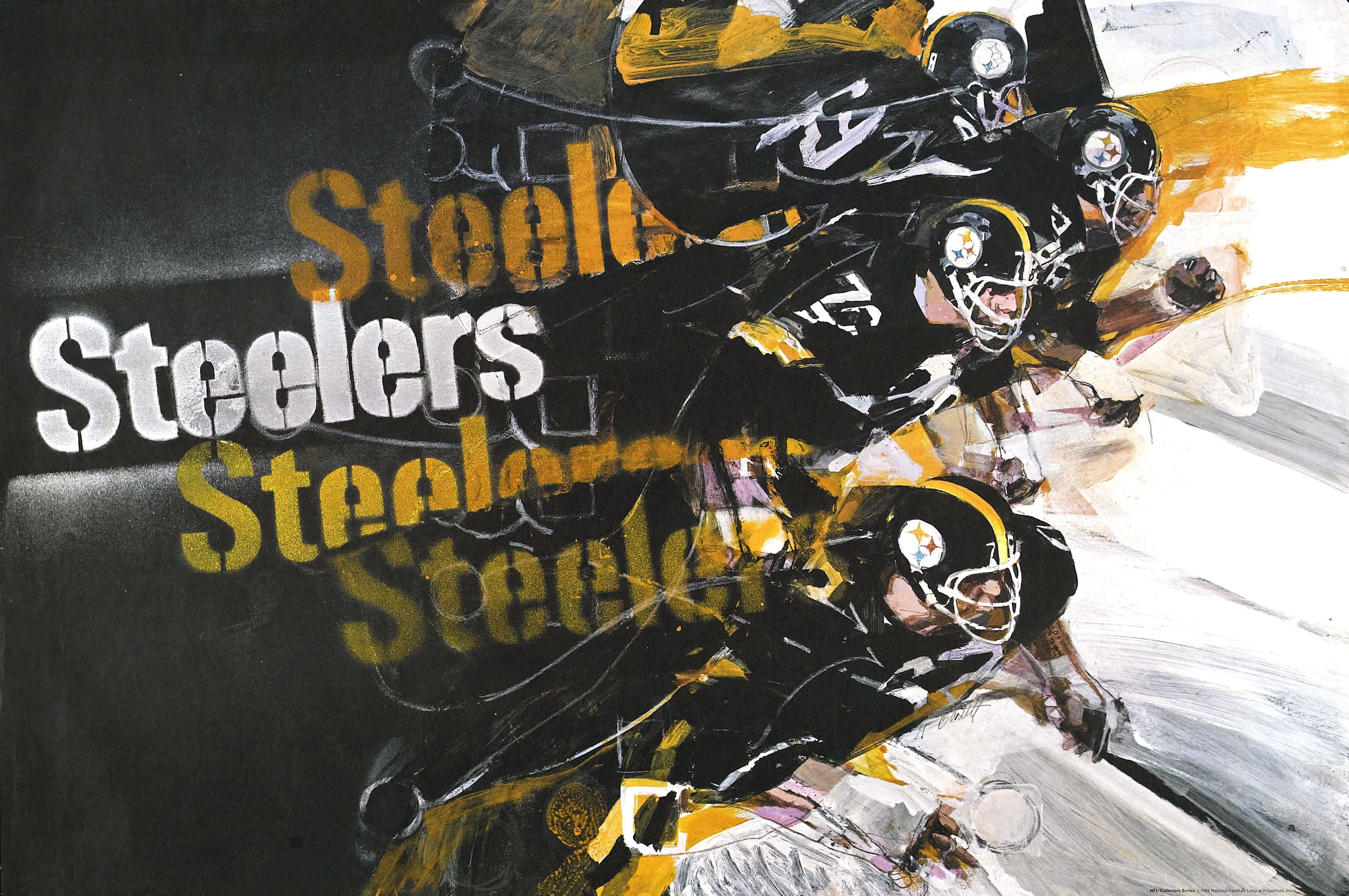 f21767dbc4c Steelers 1968 poster | Pittsburgh Steeler Players as ART ...