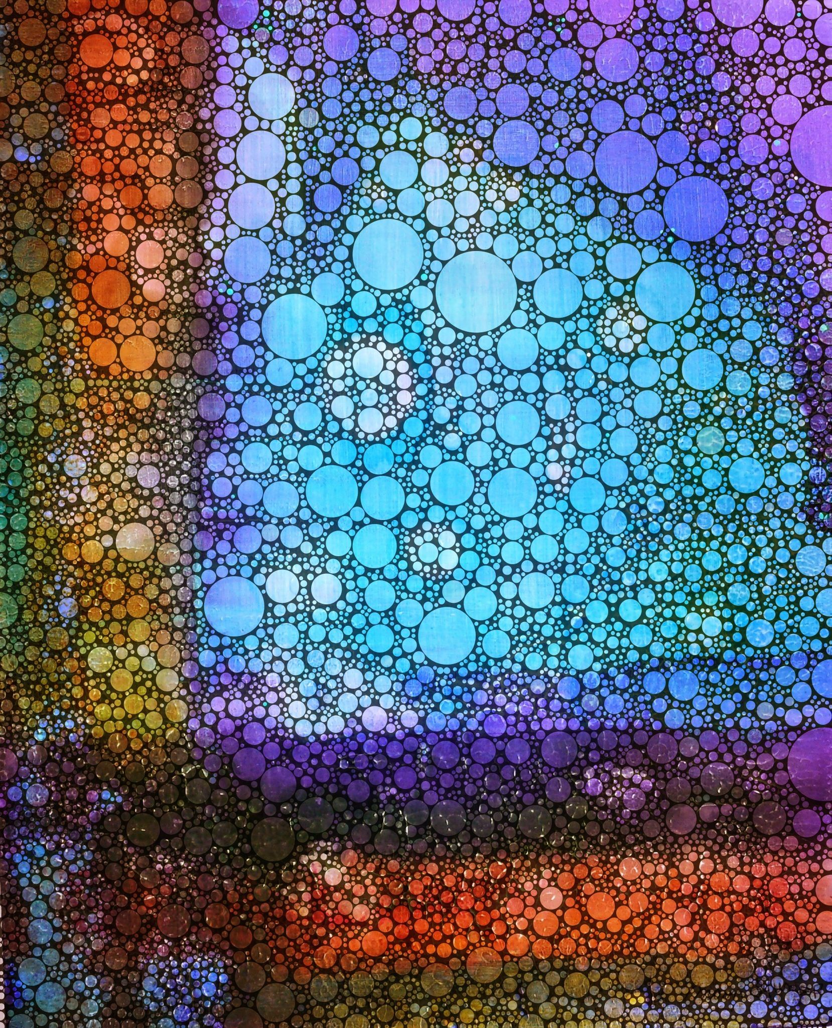 This started out as a mixed media painting on cradled panel...a few turns in some iPhone processing apps...poof