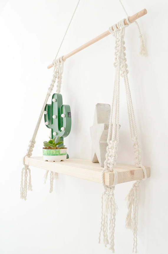 Macrame shelf, hanging macrame shelf, Boho shelves, # ...