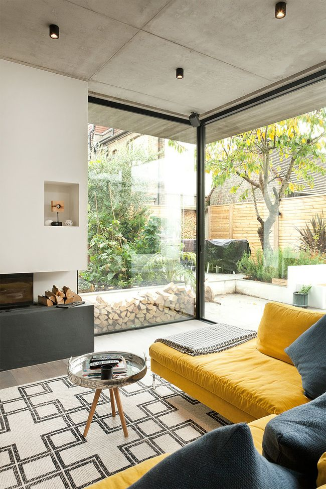 Ten Top Images On Archinect S Living Spaces Pinterest Board Ceiling Design Living Room Concrete House Concrete Houses