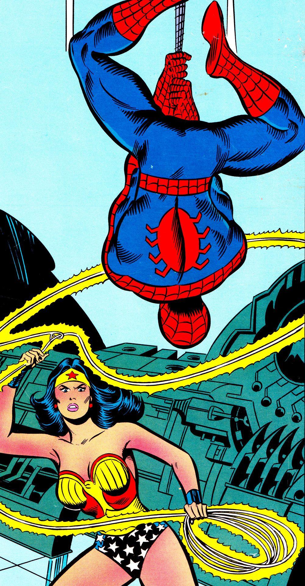 John Buscema  Spider Man & Wonder Woman