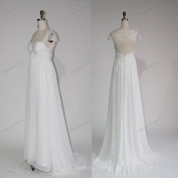 Strand-Hochzeitskleid - Brautkleid Spitze / Prinzessin ...
