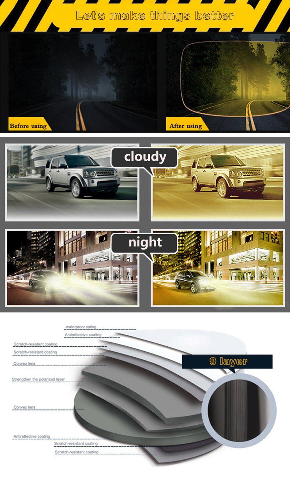 9c82ddc796 Men Golf Clothing - SOXICK Polarized Night Vision Glasses For Driving  Fashion Sunglasses Anti Glare Glasses