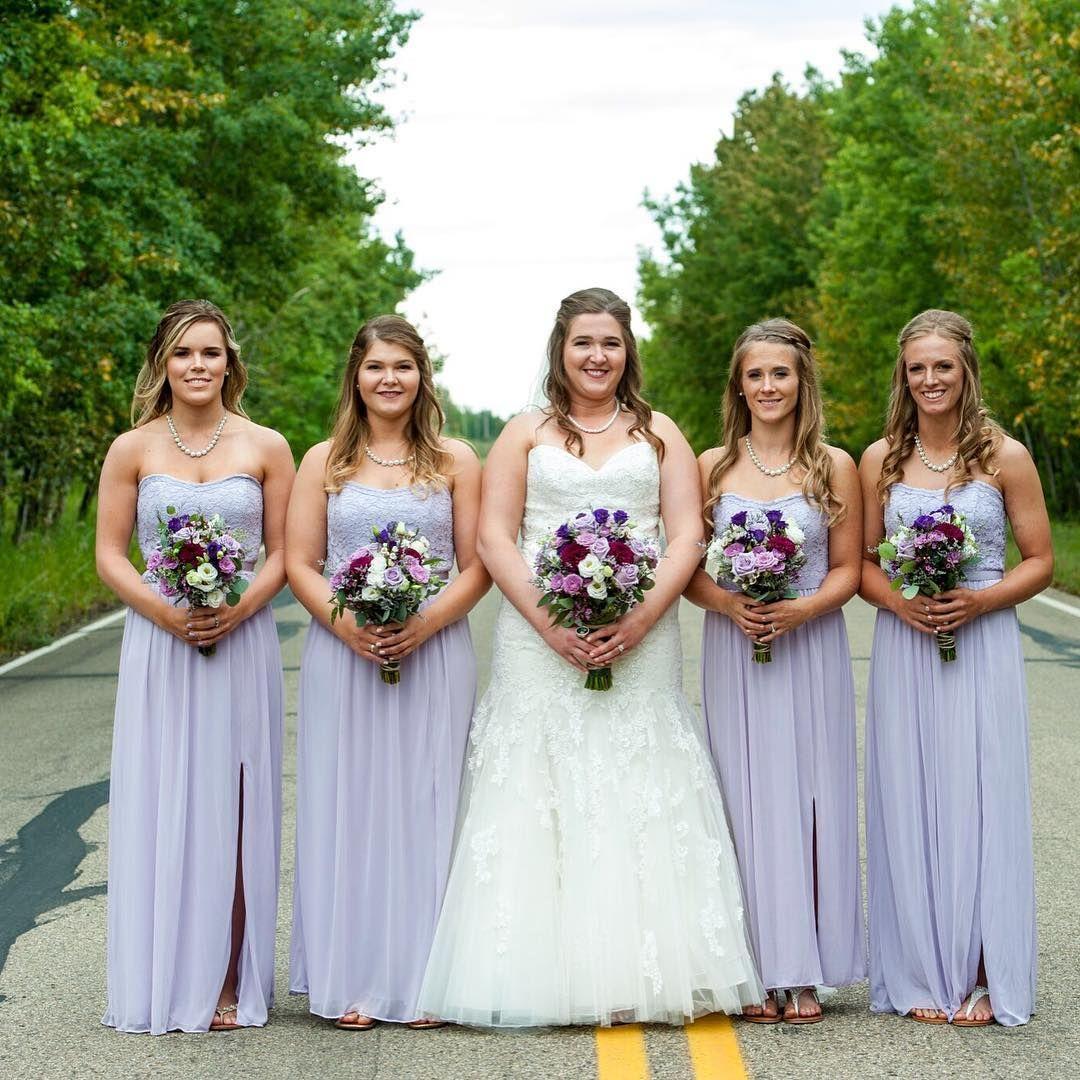 Tashlarkins bridesmaids in a pastel lilac strapless lace and mesh tashlarkins bridesmaids in a pastel lilac strapless lace and mesh davids bridal bridesmaid dress ombrellifo Choice Image