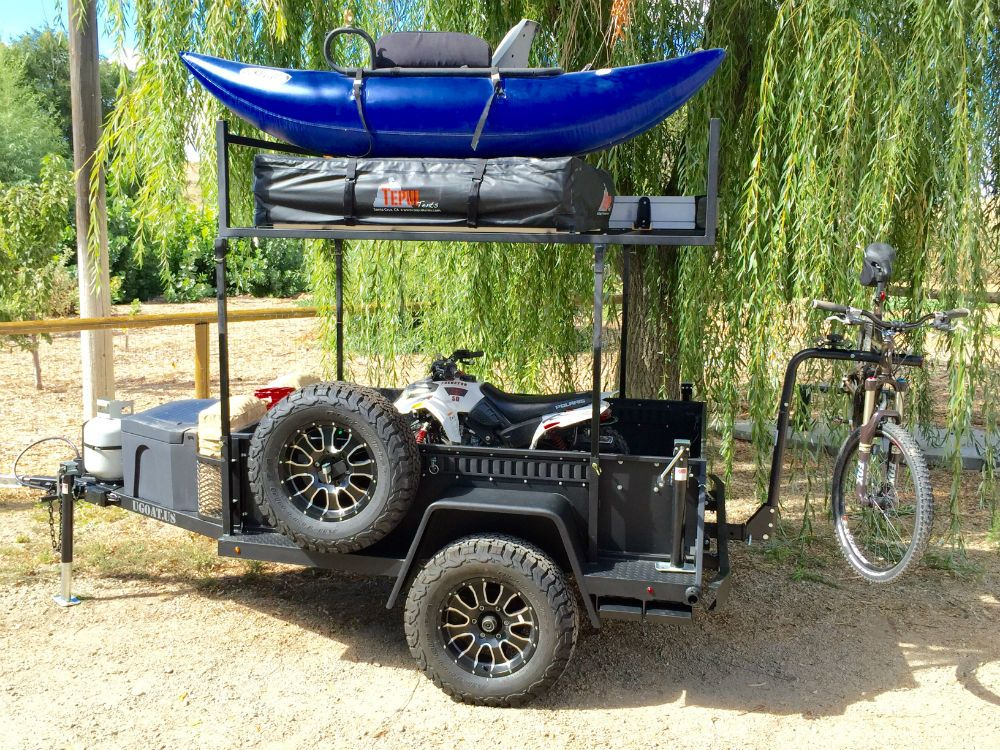 Ugoat Multi Trailer Is A Bombproof Tow Behind Gearjunkie Off Road Trailer Kayak Trailer Camping Trailer