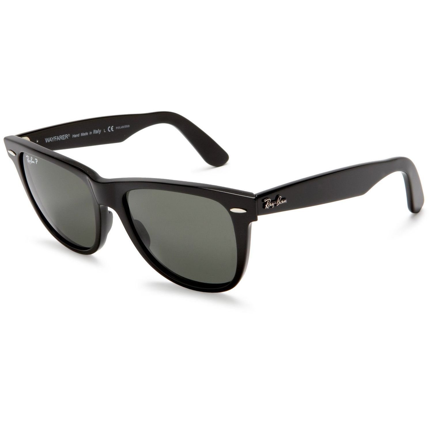 bf3a3f9992 Ray-Ban  RB2140 901  Shiny Wayfarer Sunglasses