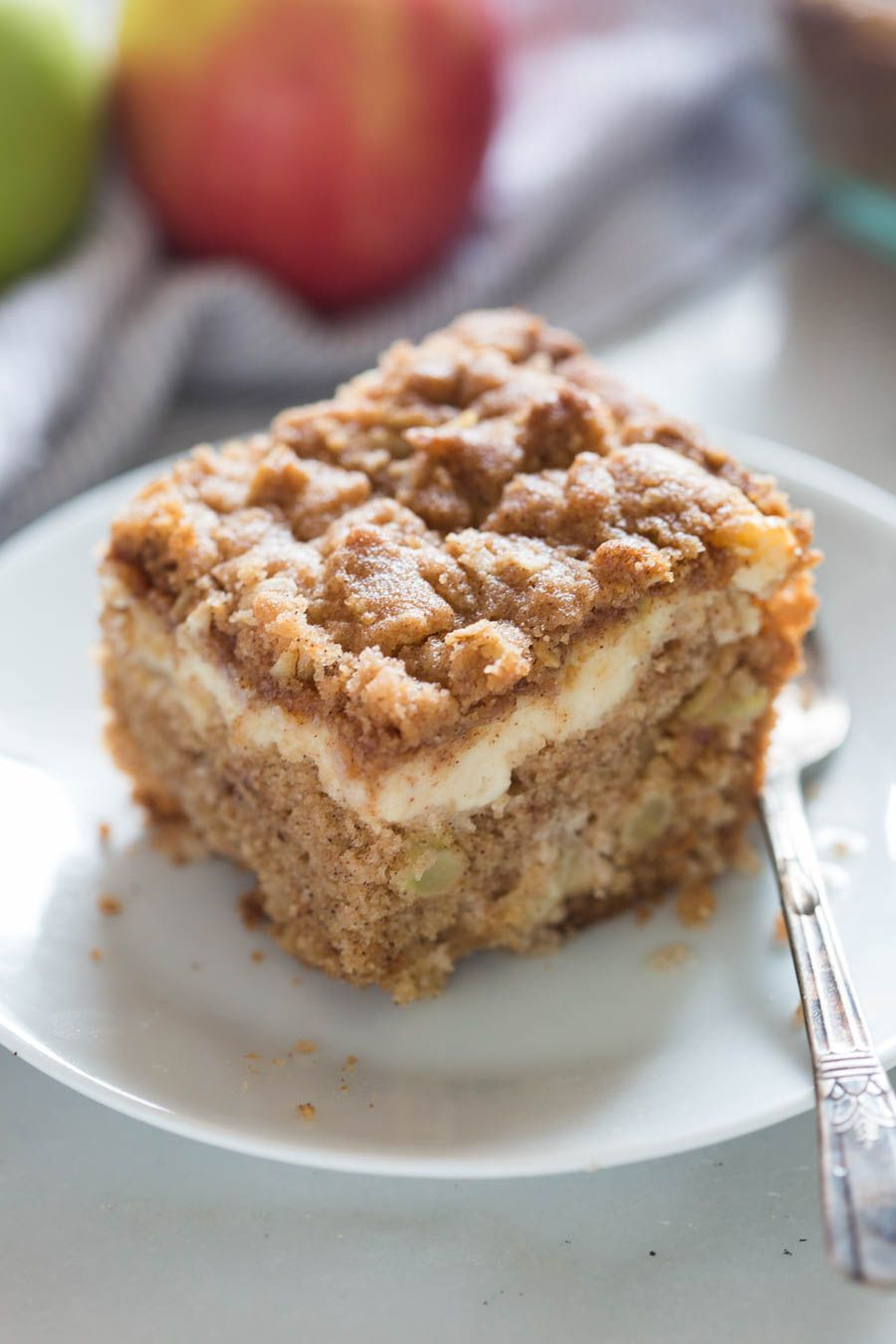 Apple Coffee Cake with cream cheese filling Recipe