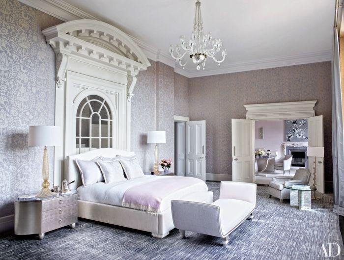 dormitorios de matrimonio, grande habitación decorada en gris y ...