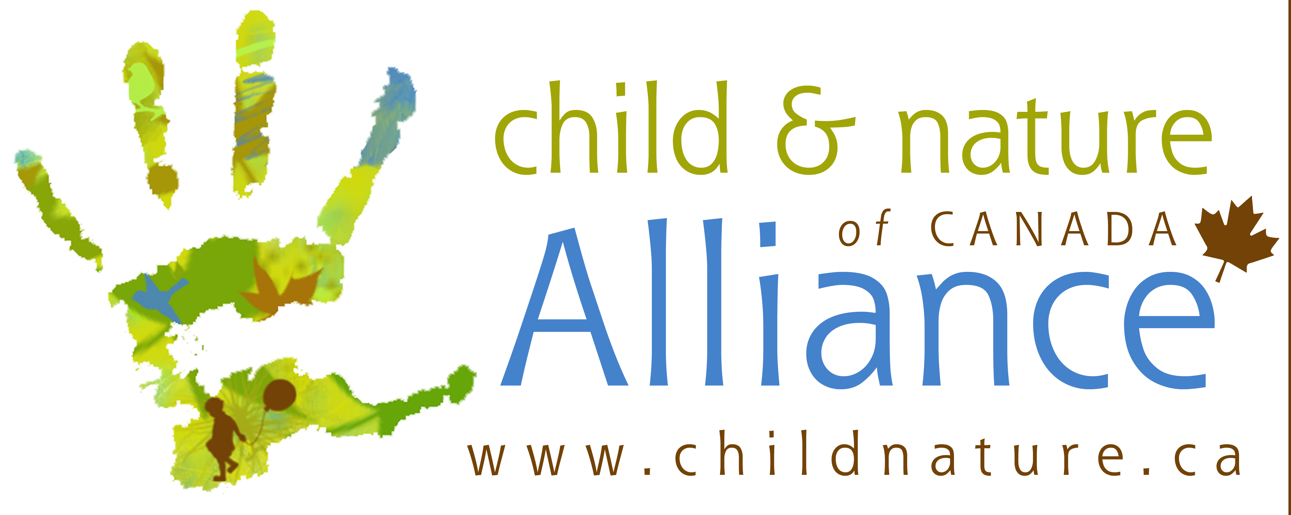 One of nine rotating logos of the Child and Nature Alliance of Canada | Nature kids, Alliance, Children