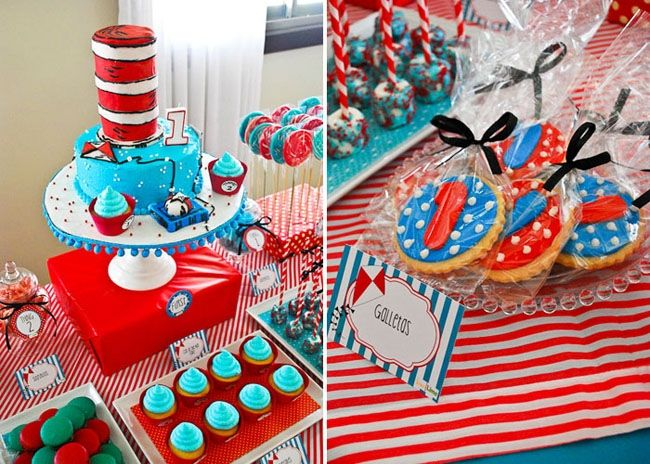 cat in the hat first birthday party from the post 24 first