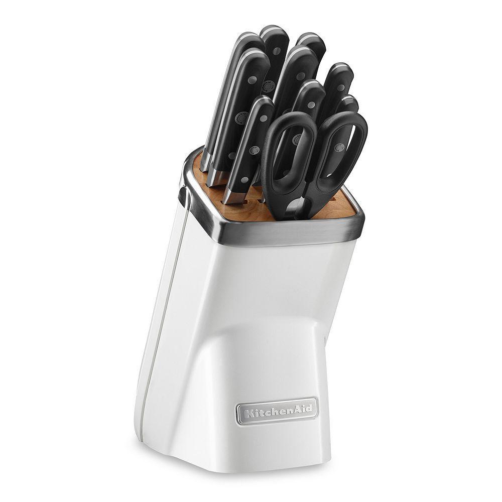 Kitchenaid 11pc triple rivet cutlery set white