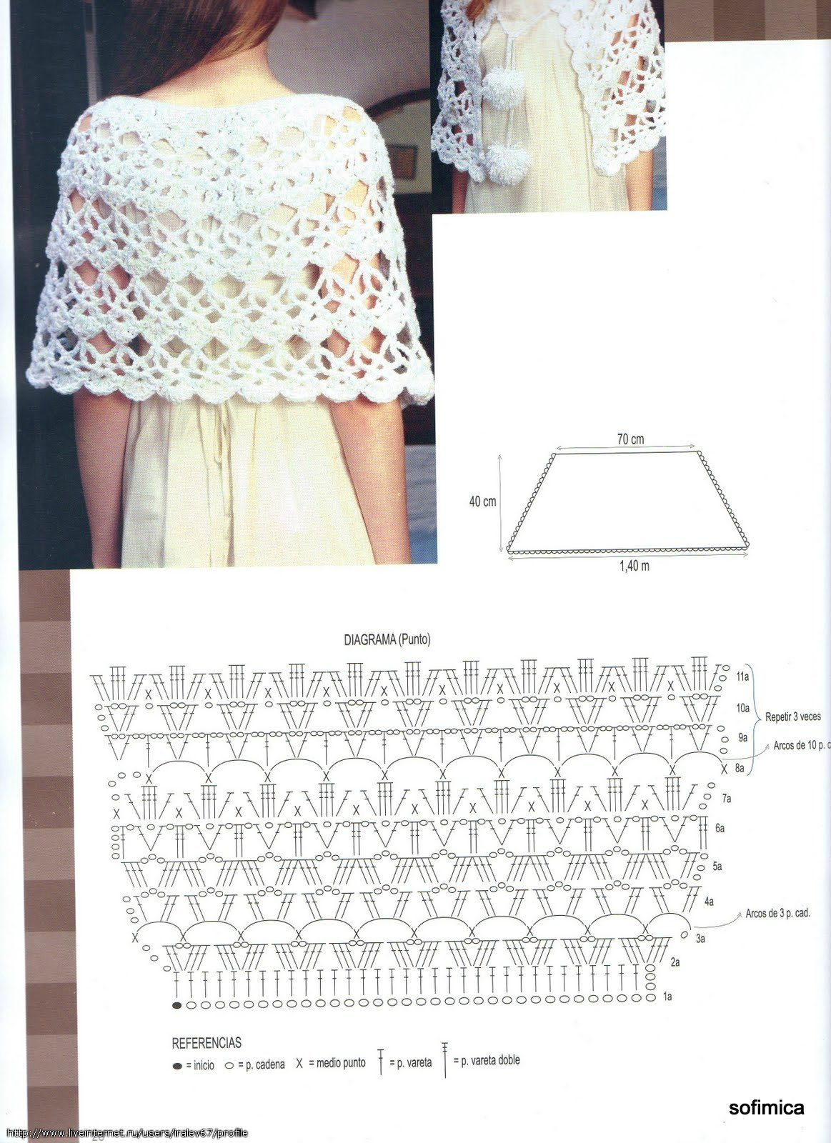 Shawl - Free Crochet Diagram - (f-picture) | crochet patrones ...