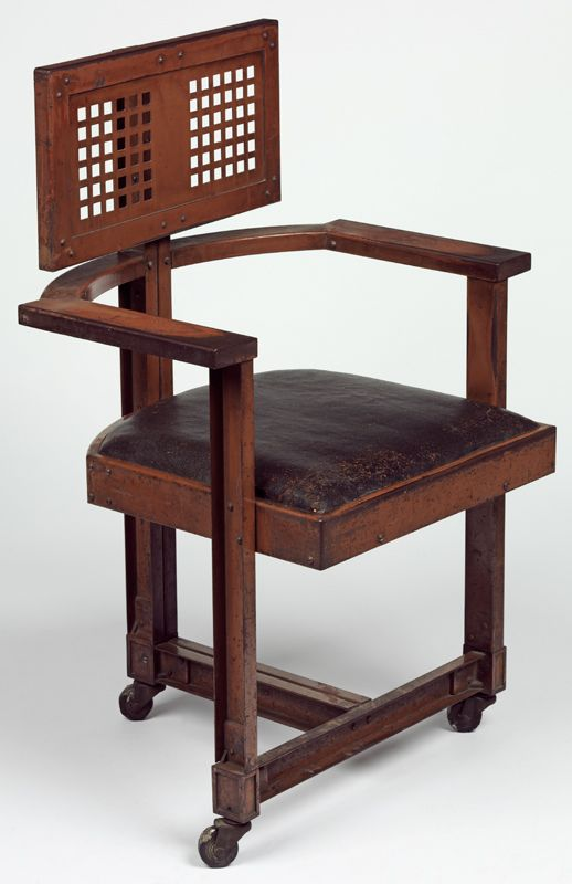 office chair designed by frank lloyd wright 1904 chaises fauteuils canap s pinterest. Black Bedroom Furniture Sets. Home Design Ideas
