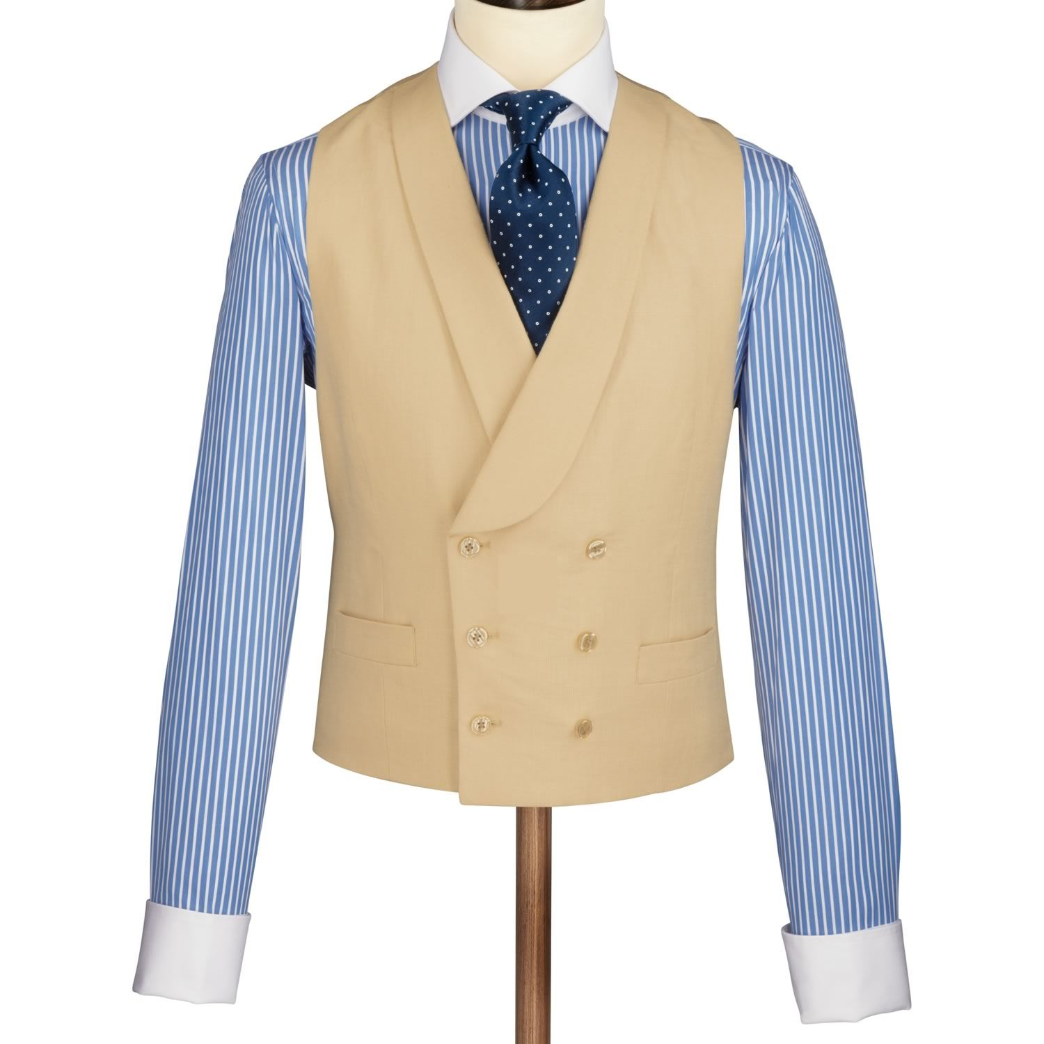 Buff linen Morning suit waistcoat | Men's occasion suits ...