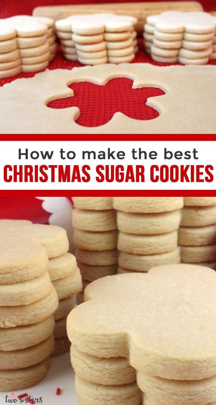 Best Christmas Sugar Cookies #sugarcookies