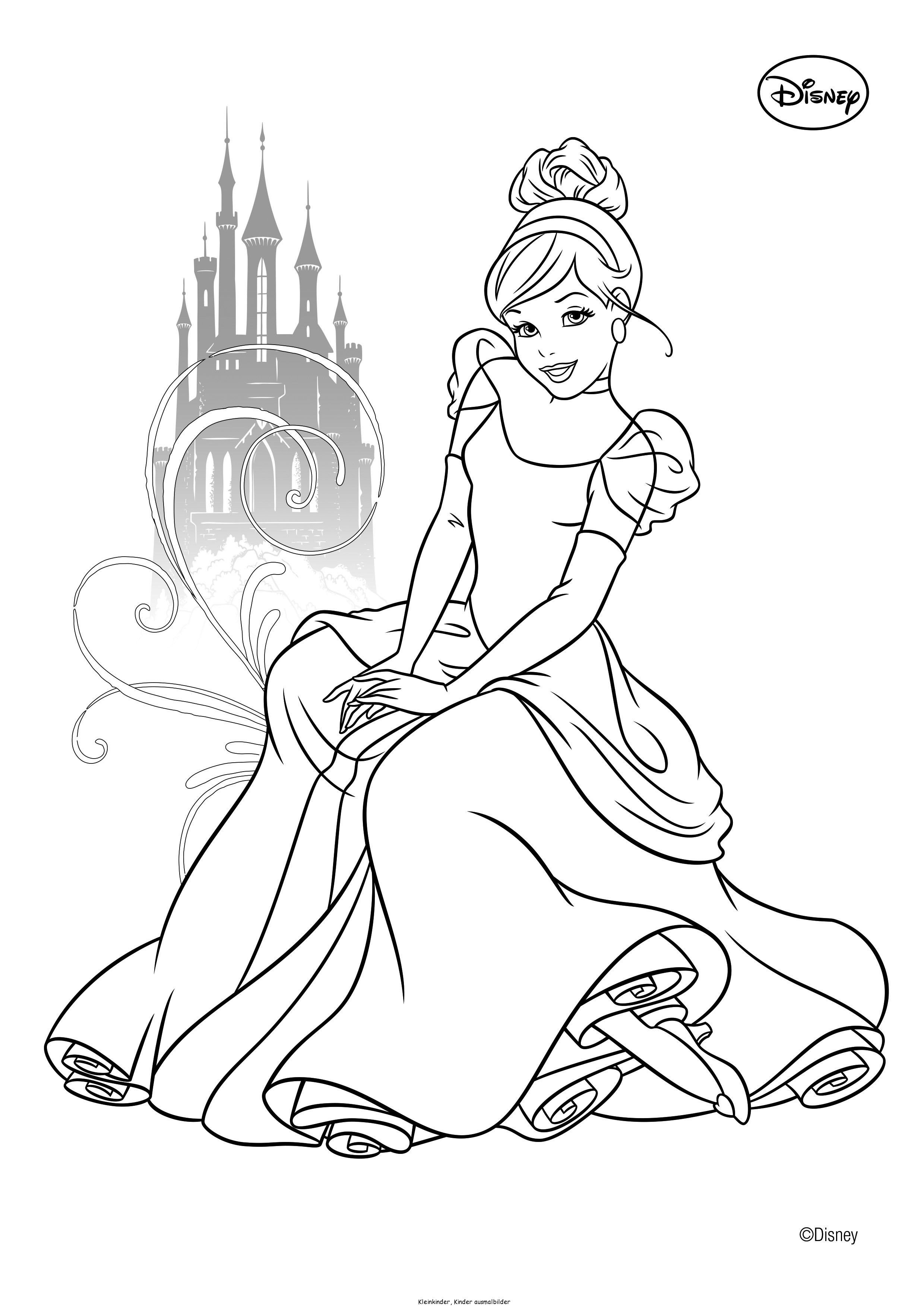 Disney Ausmalbilder Belle : Cindirella Ausmalbilder Ausmalbilder F R Kinder Ausmalbilder
