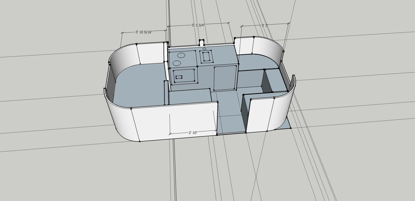 Just Finished The 3d Model Of The Customers Floor Plan Airstream Bambi Floor Plans Airstream Trailers
