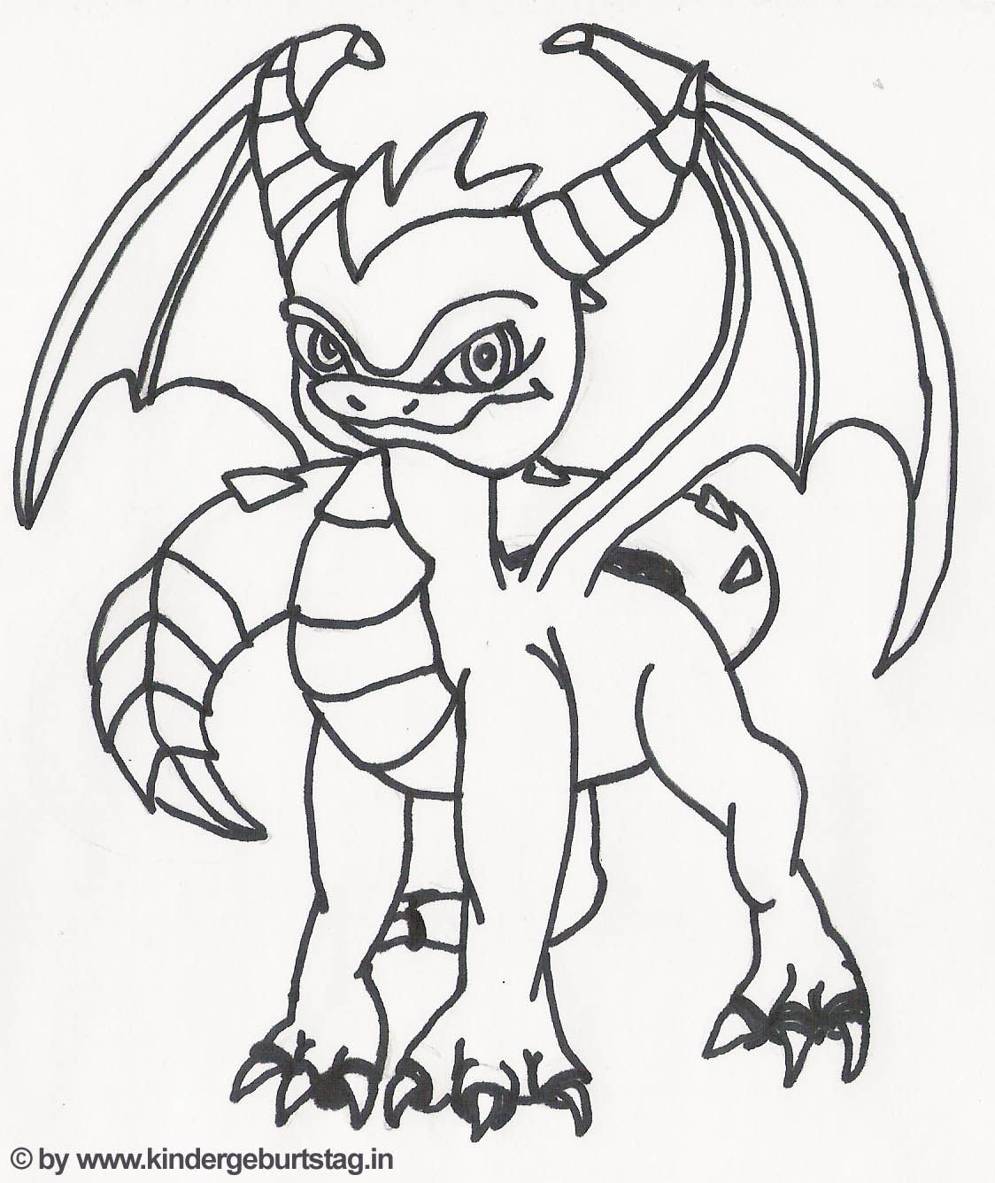 coloring spyro skylanders | Templates, Patterns & Printables ...