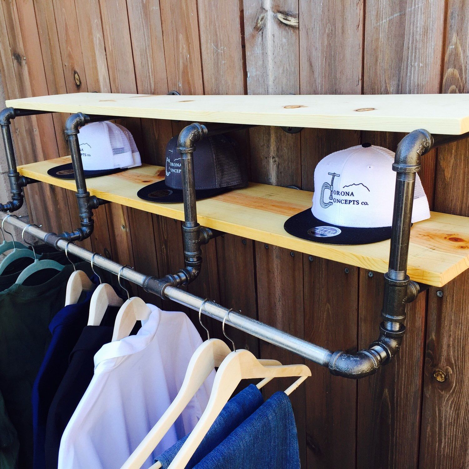 inch industrial clothing rack and double shelf free shipping to