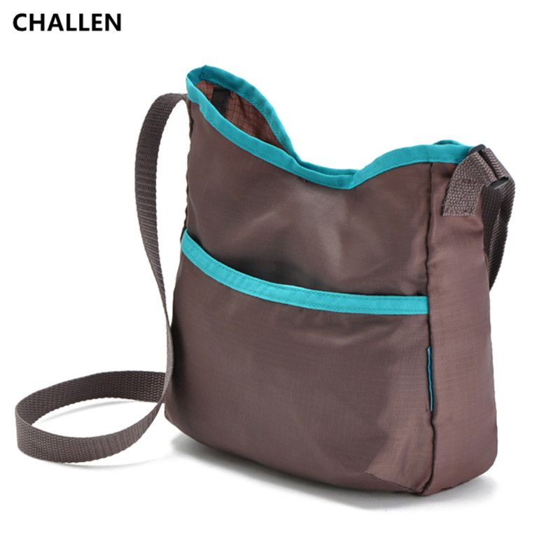 CHALLEN2017 nylon stray leisure crossbody bag women messenger bag handbag grey back cyst beauty ms summer ZJ992