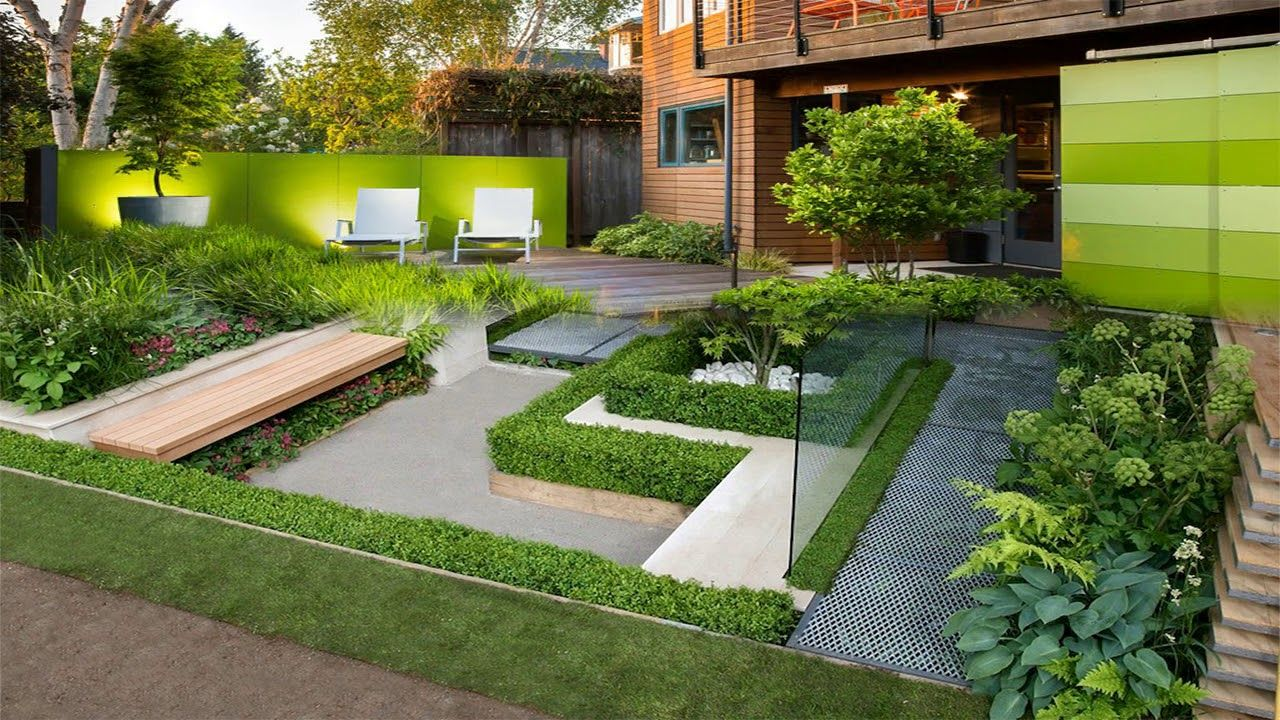 Beautiful Modern Garden Design Ideas Room Ideas Youtube Amazing Wall Decor Recommendations For Gardens Dec In 2020 Modern Garden Design Backyard Garden Design