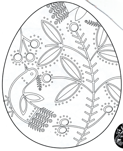 Pysanky Colouring Pages Pysanky Eggs Pattern Easter Egg Fabric Easter Coloring Pages