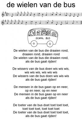 Afbeeldingsresultaat voor liedje de wielen van de bus