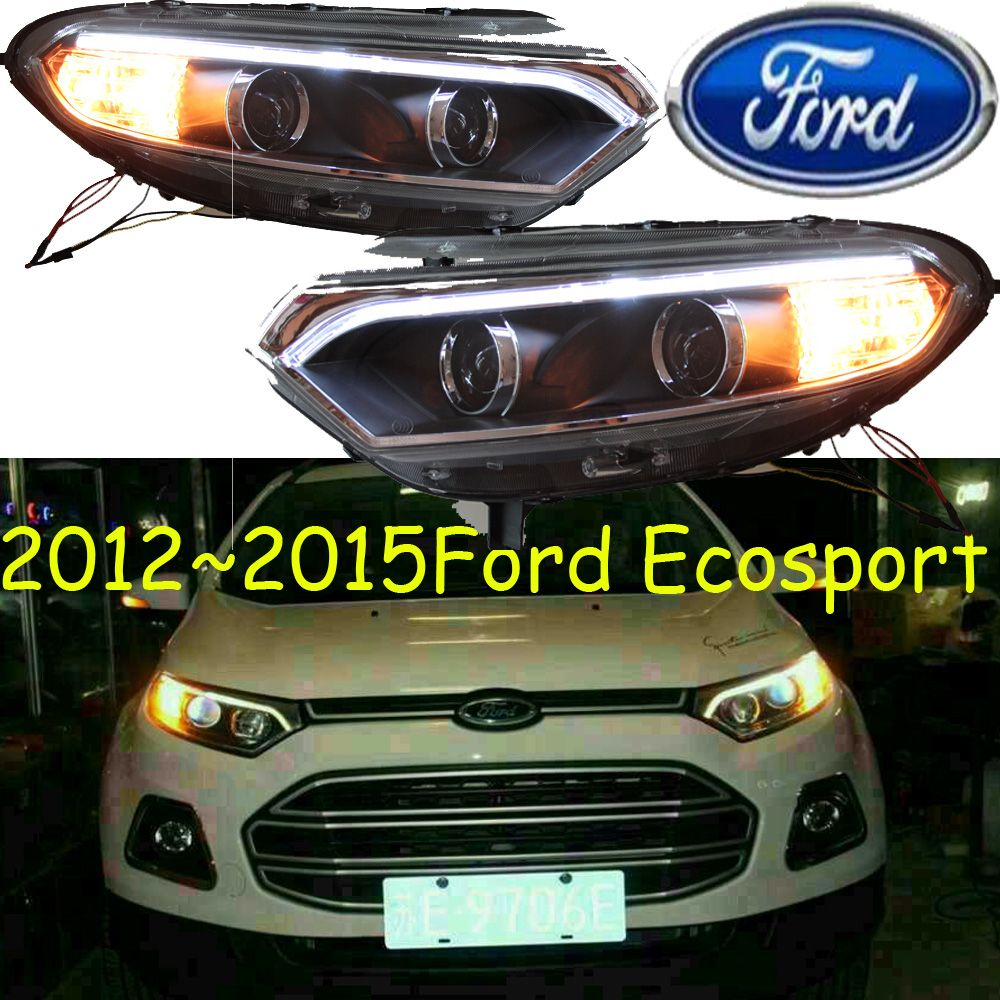 Car Styling Ecosport Headlight 2012 2016 Free Ship Chrome Ecosport