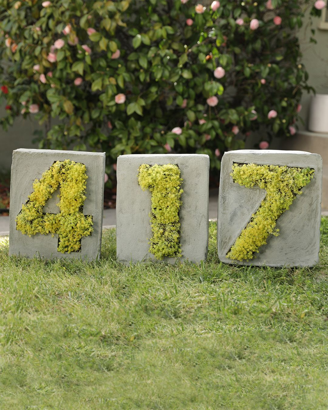 Concrete House Number Planters House Numbers Diy House Numbers Concrete House