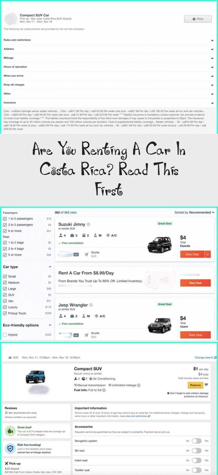 Are you renting a car in costa rica read this first