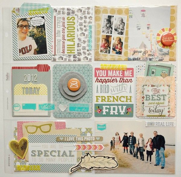 Project Life Style Page But Not True Pl Design Pocket Page