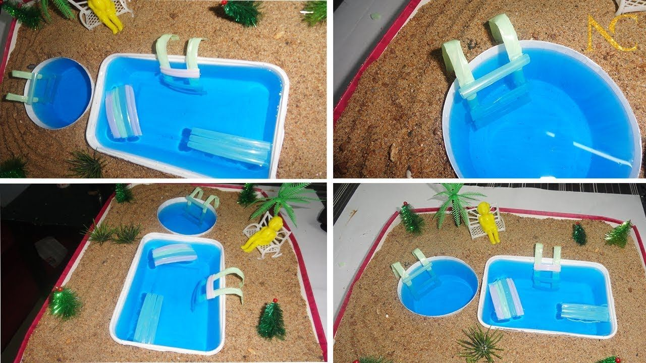 How To Make A Miniature Swimming Pool Diy Doll Accessories Mini Pool Best Out Of Waste Youtube Diy Doll Diy Swimming Pool Mini Pool