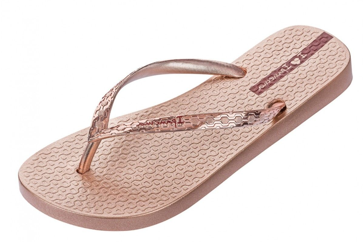 d38503f738ce4 Ipanema Glam Rose Gold Metallic Women s Flip Flops