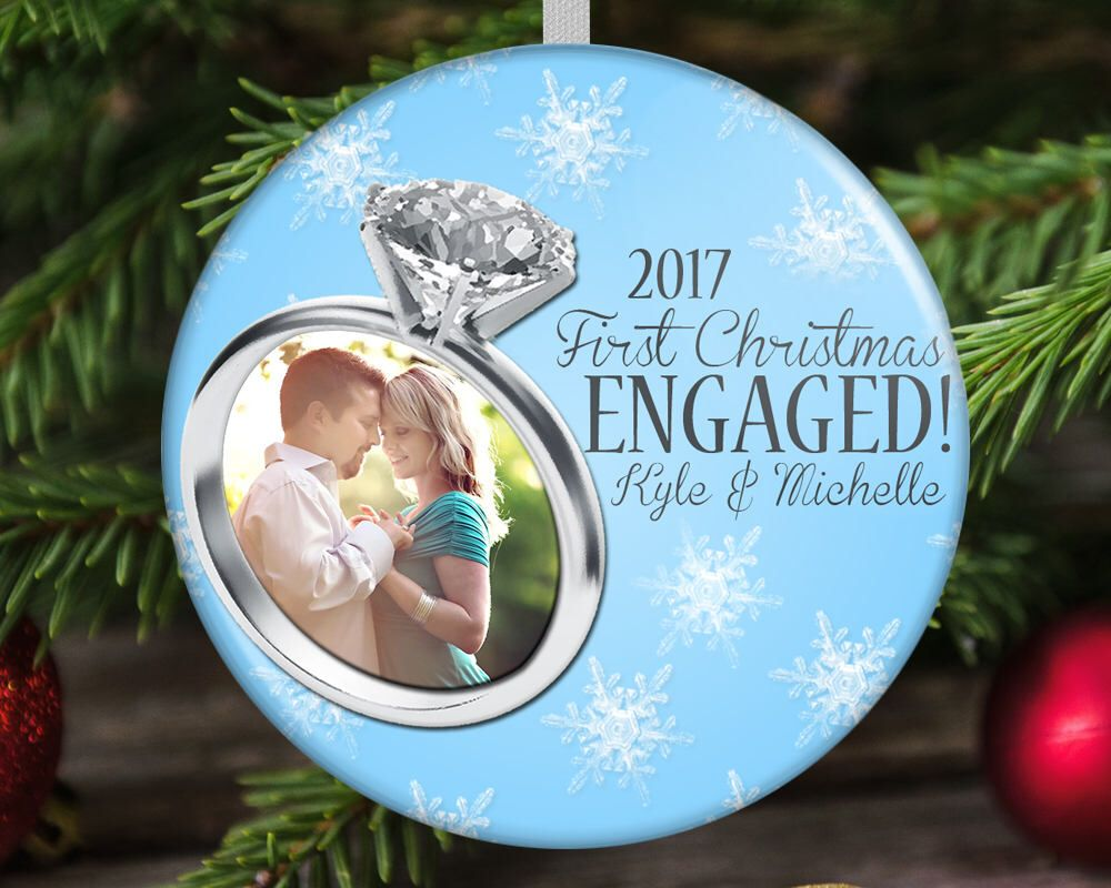 Engaged christmas ornament first engaged christmas engagement