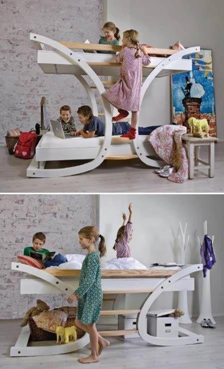 Letti a castello particolari per bambini e adulti - Stanza con letti ...