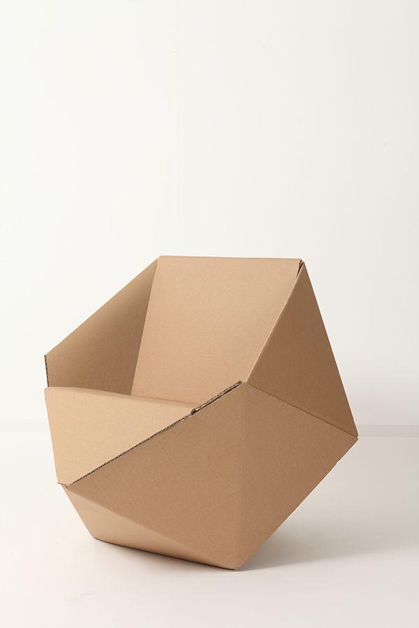 Diamond Cardboard Chair On Behance Muebles De Carton