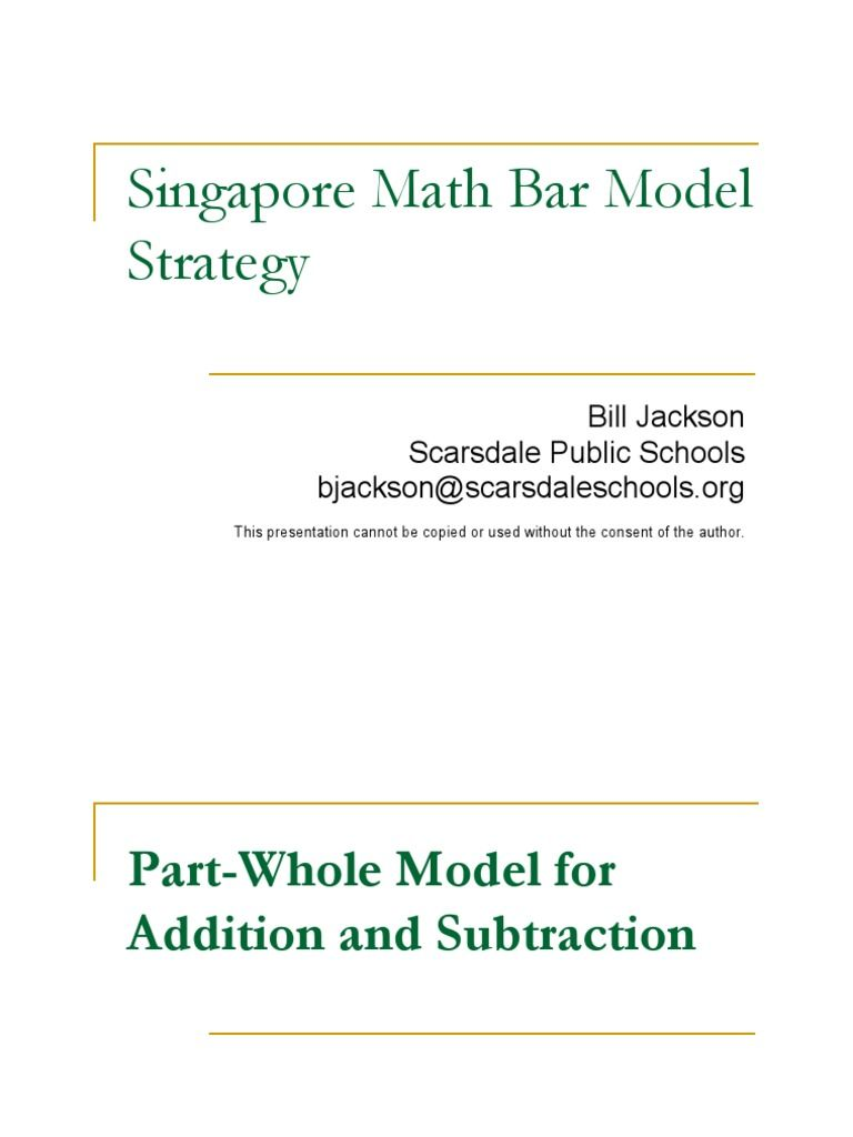 Singapore Maths Bar Model