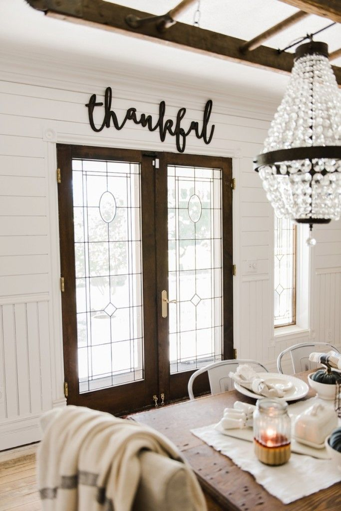 Word Signs Wall Decor Thankful Sign  Cursive Words Rustic Fall Decor And Cursive