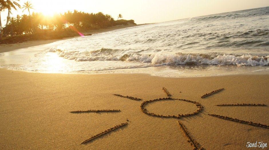 еще поздравление на песке пляжа тем, насколько должен