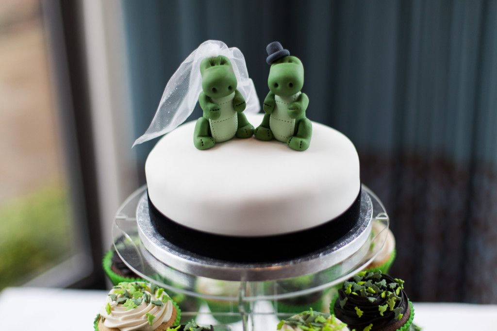 Remember that time I had a dinosaur themed wedding? Looks like it fits in beautifully with the Pantone colour of the year - Greenery!