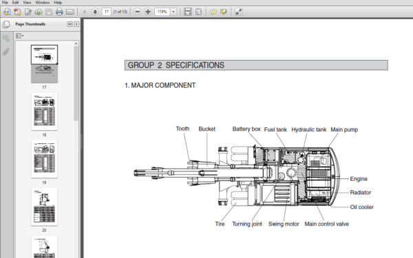 Hyundai R170w 9s Wheel Excavator Service Manual Pdf Download In 2020 Excavator Hyundai Hydraulic Systems