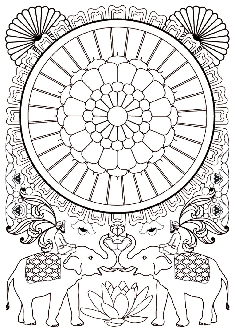 Zen colouring advanced art therapy collector edition - Art Therapie 100 Mandalas Anti Stress French Edition Sophie Leblanc
