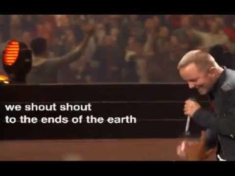 Shout by Chris Tomlin and Matt Redman with lyrics  - Passion 2013 Atlanta Georgia Dome