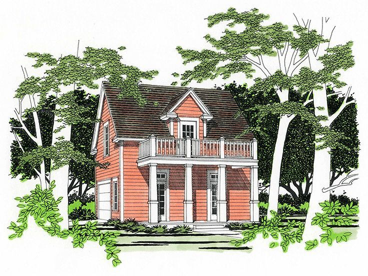 Nice Carriage House Design With Balcony Studio Garage 036g 001from The Thehouseplanshop Com Carriage House Plans Garage Apartment Plans Carriage House