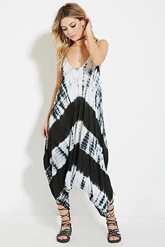 Boho Me Tie-Dye Jumpsuit | Forever 21 - 2000186798 | Why is $55 when itu0027s  made in Idia??? It should be like $24 and that would still be a 50% markup.