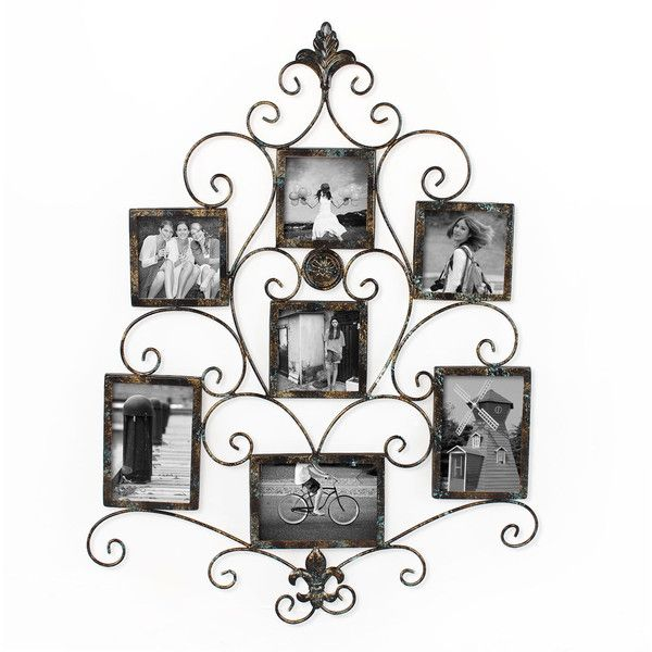 Adeco 7-opening Metal Photo Picture Collage Frame ($56) ❤ liked on Polyvore featuring home, home decor, frames, brown, metal frames, colored picture frames, brown collage picture frames, 4x6 picture frames and 4x6 collage frames