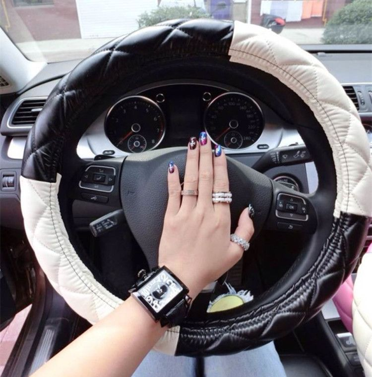 Interior Car Accessories For Girls | Free Shipping Fashion Girls Car  Leather Steering Wheel Cover Universal