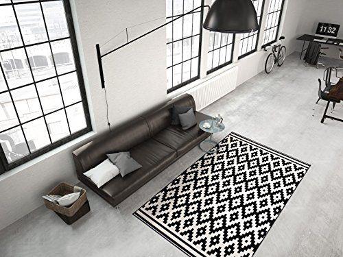 Moderner Teppich Flachflor Designerteppiche Rauten Form 3D Effekt - teppiche für die küche