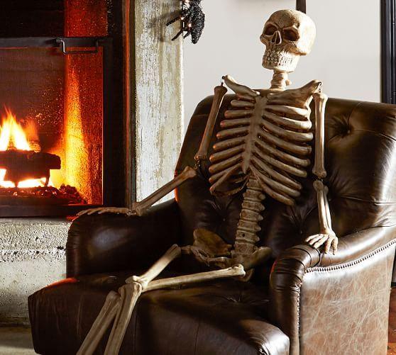 Outdoor Mr Bones Natural Halloween Home Decor