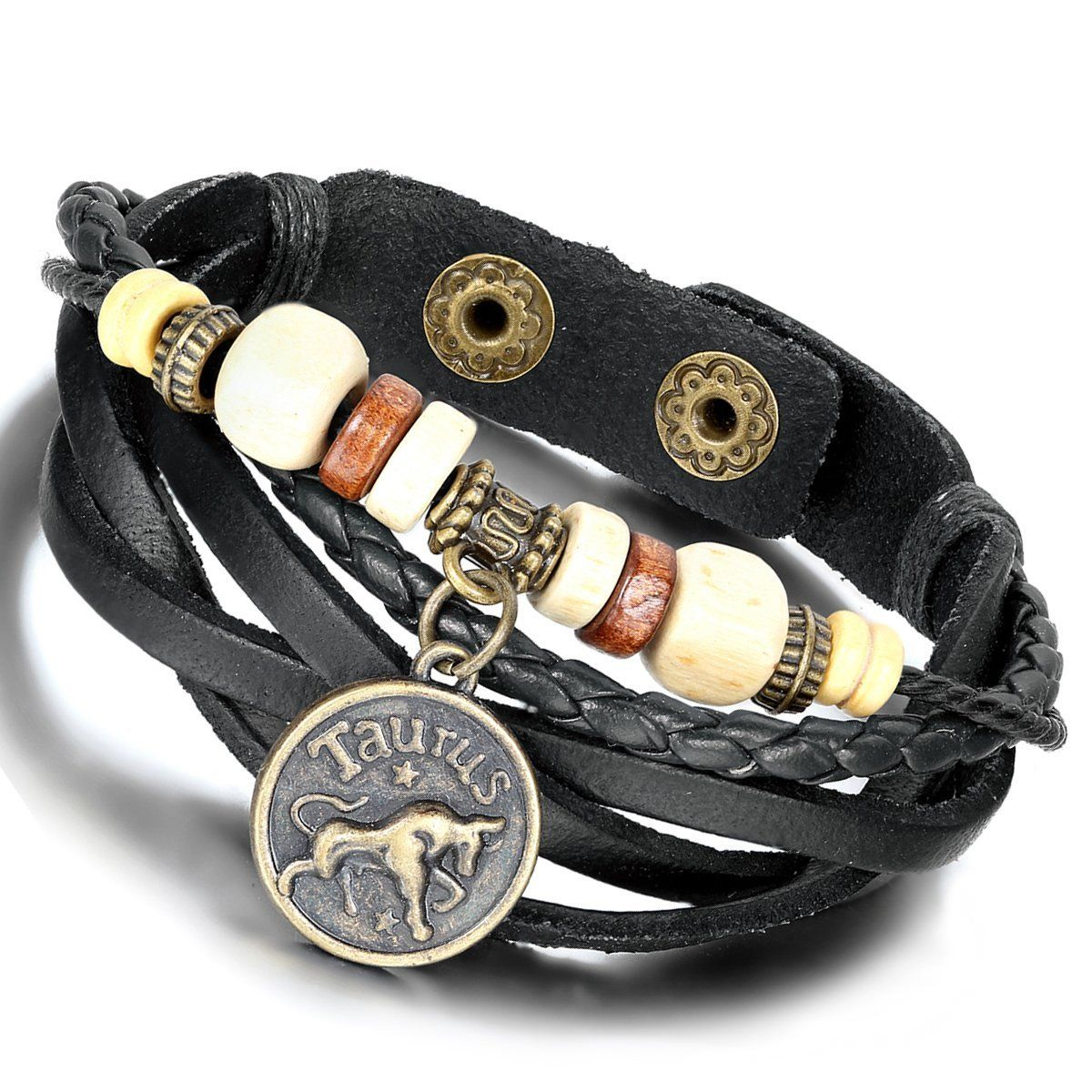 Amazon arocent handmade leather bracelet with constellation